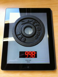 """iPad-App """"KüchenwaageHD 1.0"""""""